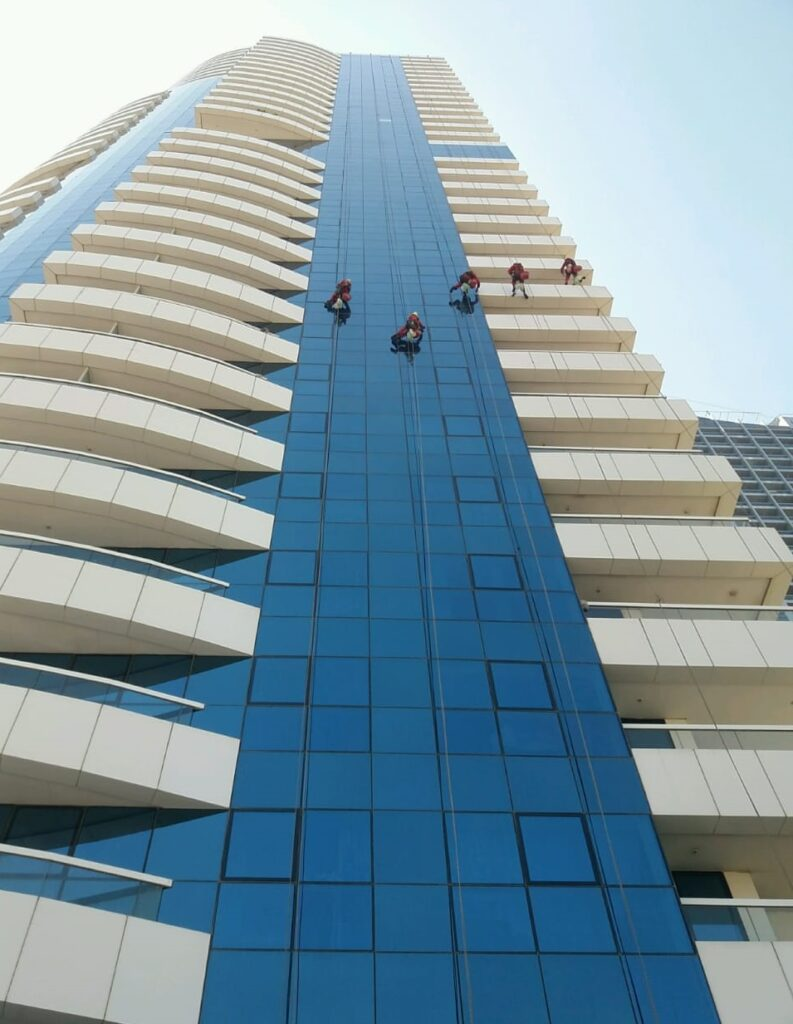 high rise building cleaning